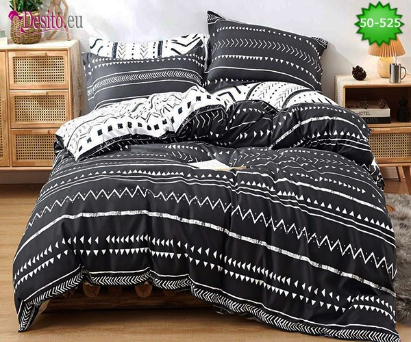 Двулицево спално бельо от 100% памук, 4 части с код 50-525