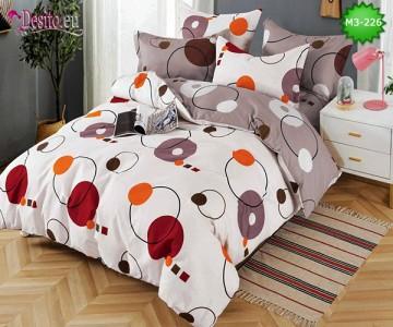 Спално бельо от 100% памук, 6 части, двулицево с код M3-226