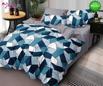 Спално бельо от 100% памук, 6 части, двулицево с код M3-227