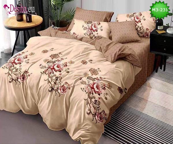 Спално бельо от 100% памук, 6 части, двулицево с код M3-231