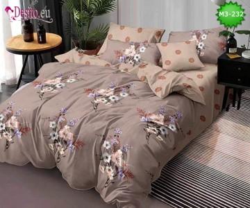 Спално бельо от 100% памук, 6 части, двулицево с код M3-232