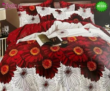 Спално бельо от 100% памук, 6 части - двулицево, с код M-101