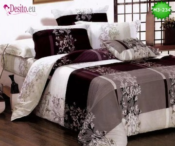 Спално бельо от 100% памук, 6 части, двулицево с код M3-234
