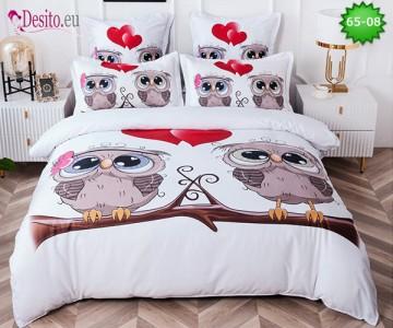 Спално бельо от 100% памук, 6 части с код 65-08