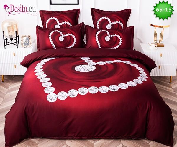 Спално бельо от 100% памук, 6 части с код 65-15