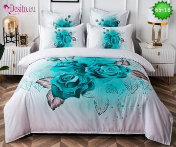 Спално бельо от 100% памук, 6 части с код 65-18