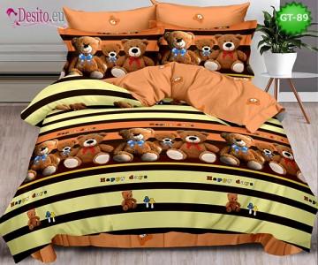 Спално бельо от 100% памук, 6 части и чаршаф с ластик с код GT-89