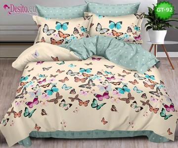 Спално бельо от 100% памук, 6 части и чаршаф с ластик с код GT-92