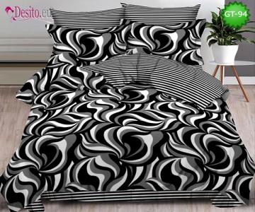 Спално бельо от 100% памук, 6 части и чаршаф с ластик с код GT-94
