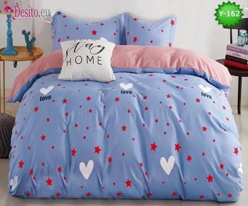 Единично спално бельо, 4 части, 100% памук с код Y-162