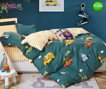 Единично спално бельо, 4 части, 100% памук с код Y-165