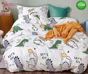 Единично спално бельо, 4 части, 100% памук с код Y-166