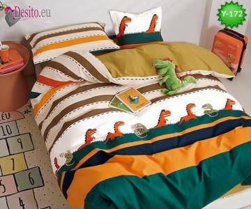 Единично спално бельо, 4 части, 100% памук с код Y-172
