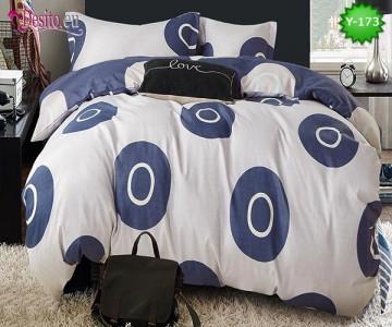 Единично спално бельо, 4 части, 100% памук с код Y-173