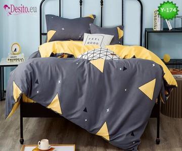 Единично спално бельо, 4 части, 100% памук с код Y-174