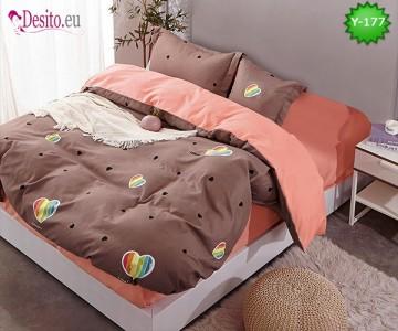 Единично спално бельо, 4 части, 100% памук с код Y-177