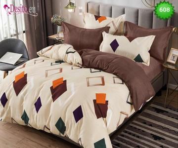 Спално бельо от 100% памук, 6 части, двулицево с код 608
