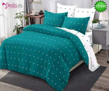 Спално бельо от 100% памук, 6 части - двулицево, с код C7-220