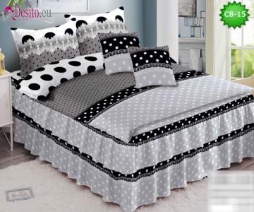 Спално бельо от 100% памук, 6 части, с код C8-15