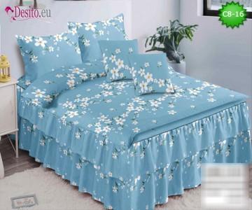 Спално бельо от 100% памук, 6 части, с код C8-16
