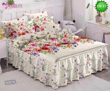 Спално бельо от 100% памук, 6 части, с код C8-17