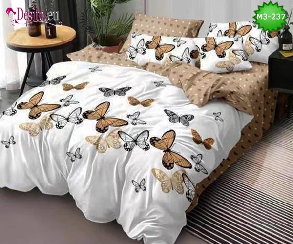 Спално бельо от 100% памук, 6 части, двулицево с код M3-237