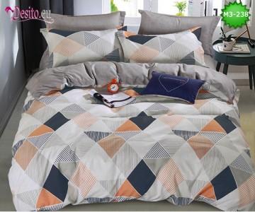 Спално бельо от 100% памук, 6 части, двулицево с код M3-238