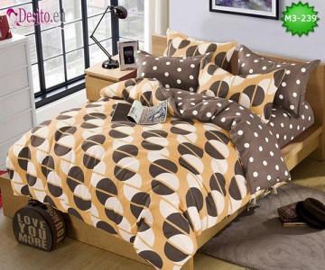 Спално бельо от 100% памук, 6 части, двулицево с код M3-239