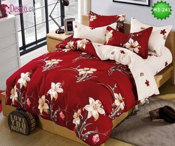 Спално бельо от 100% памук, 6 части, двулицево с код M3-241