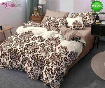 Спално бельо от 100% памук, 6 части, двулицево с код M3-246