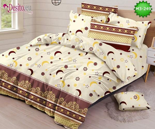 Спално бельо от 100% памук, 6 части, двулицево с код M3-249