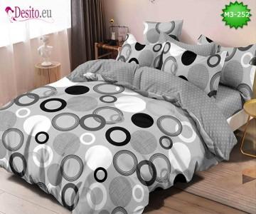 Спално бельо от 100% памук, 6 части, двулицево с код M3-252
