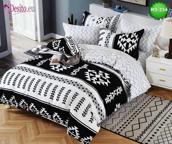 Спално бельо от 100% памук, 6 части, двулицево с код M3-254
