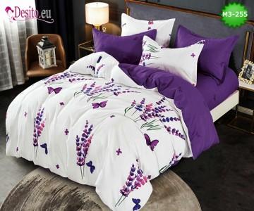 Спално бельо от 100% памук, 6 части, двулицево с код M3-255