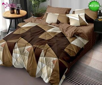 Спално бельо от 100% памук, 6 части, двулицево с код M3-256