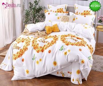 Спално бельо от 100% памук, 6 части - двулицево, с код 41-202