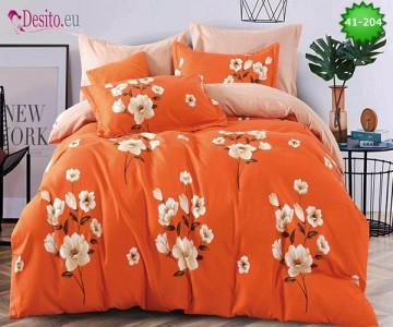 Спално бельо от 100% памук, 6 части - двулицево, с код 41-204