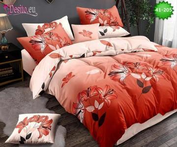 Спално бельо от 100% памук, 6 части - двулицево, с код 41-205