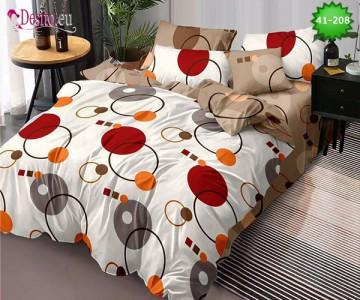 Спално бельо от 100% памук, 6 части - двулицево, с код 41-208