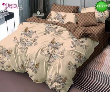 Спално бельо от 100% памук, 6 части - двулицево, с код 41-212