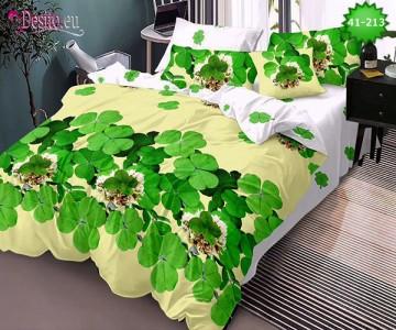 Спално бельо от 100% памук, 6 части - двулицево, с код 41-213