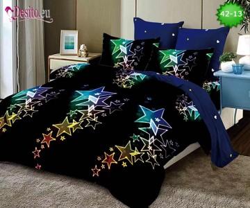 Спално бельо от 100% памук, 6 части и чаршаф с ластик с код 42-13