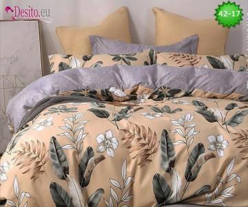 Спално бельо от 100% памук, 6 части и чаршаф с ластик с код 42-17