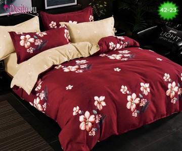 Спално бельо от 100% памук, 6 части и чаршаф с ластик с код 42-23