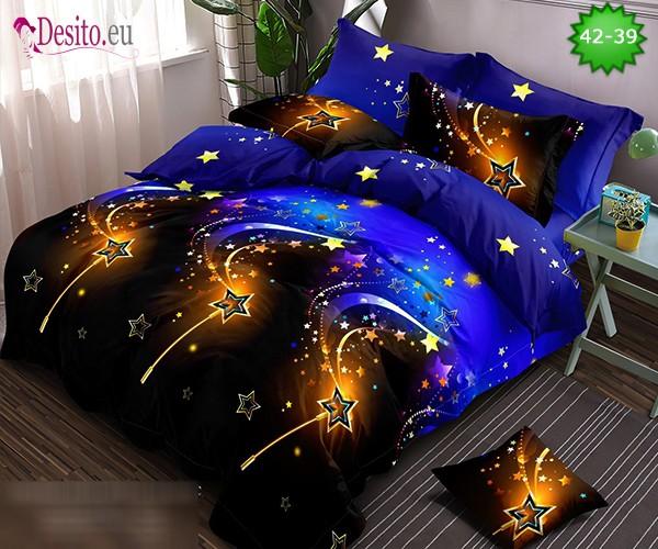 Спално бельо от 100% памук, 6 части и чаршаф с ластик с код 42-39
