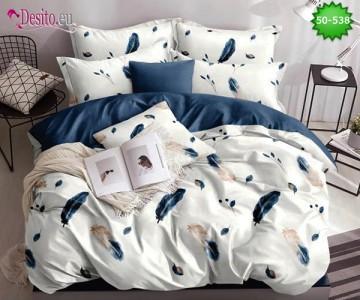 Двулицево спално бельо от 100% памук, 4 части с код 50-538