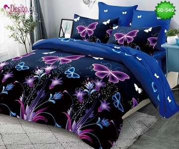 Двулицево спално бельо от 100% памук, 4 части с код 50-540