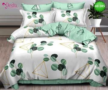 Спално бельо от 100% памук, 6 части, двулицево с код 60-385
