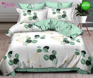 Спално бельо от 100% памук, 6 части и чаршаф с ластик с код GT-95