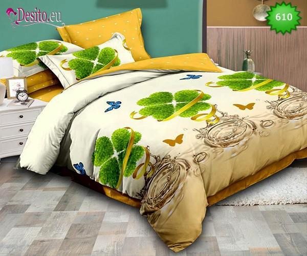 Спално бельо от 100% памук, 6 части, двулицево с код 610